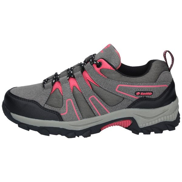 Zapatillas-Outdoor-Lotto-Niños-Caims-GS-Gris-Rosa