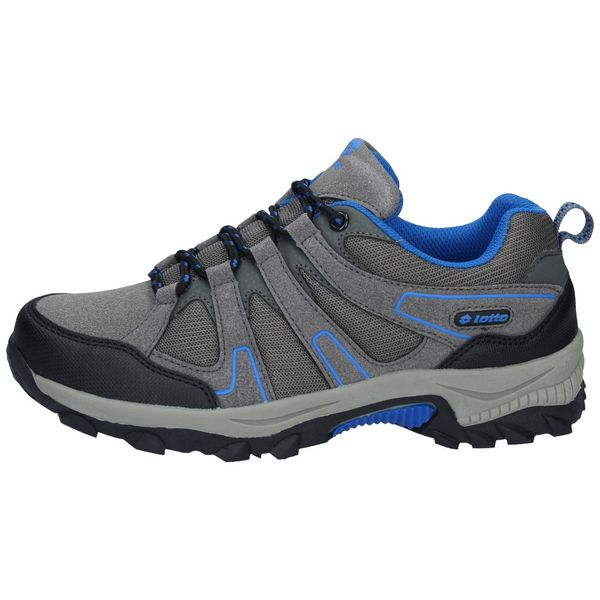 Zapatillas-Outdoor-Lotto-Niños-Caims-GS-Gris-Azul