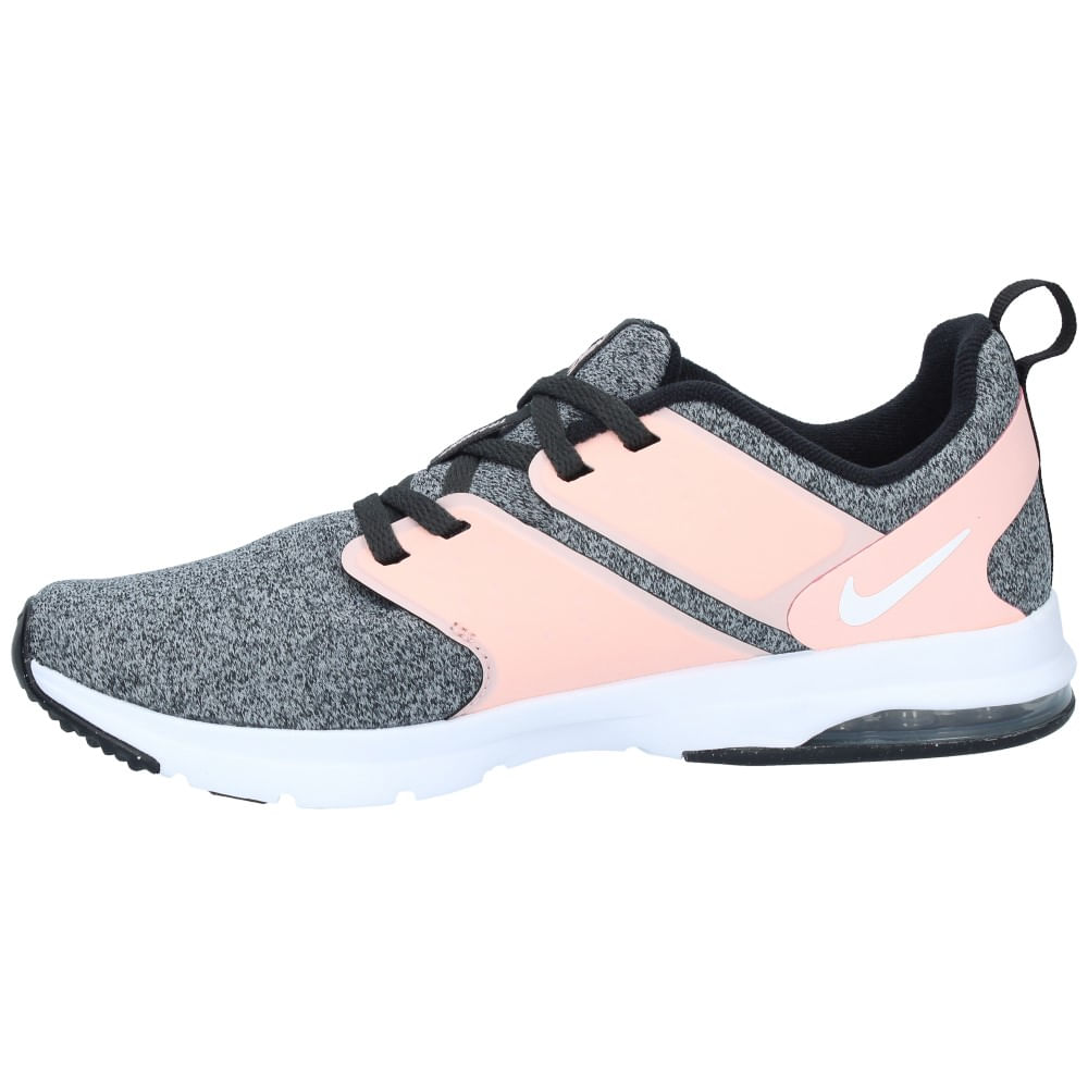 best service bab1a 9f4cb Zapatillas Nike Mujer Training Air Bella Rosa Gris