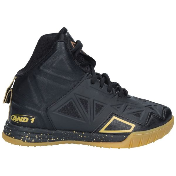 Zapatillas-Basketball-Niños-AND1-CHAOS-Negro-Pale-Gold
