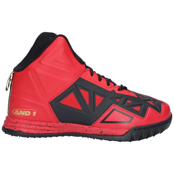 Zapatillas-Basketball-Niños-AND1-CHAOS-Rojo-Negro-Gold
