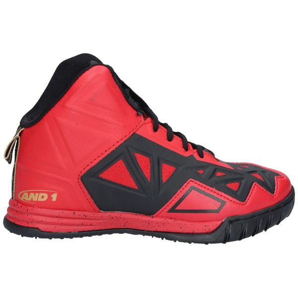 Zapatillas-Basketball-Niños-AND1-CHAOS-Rojo-Negro-Pale-Gold