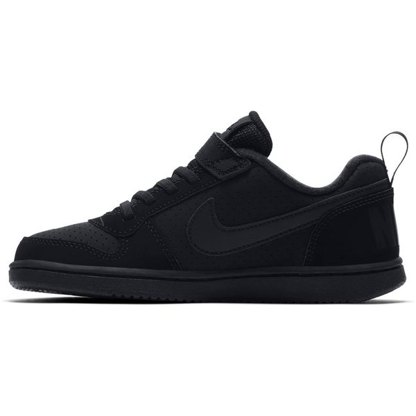 Zapatillas-Niño-Nike-Urbana-Court-Borough-Low-Velcro-Negra