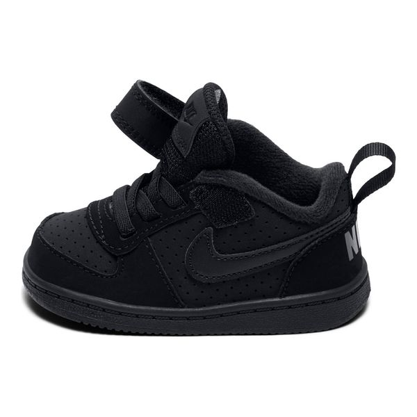 Zapatillas-Niños-Nike-Court-Borough-Low-Velcro-Negra