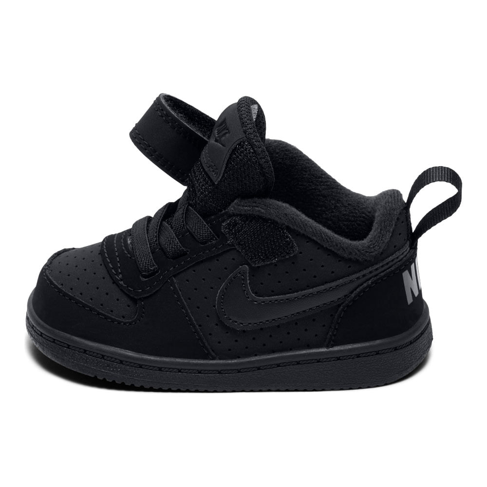 0e8b63af58075 Zapatillas Niños Nike Court Borough Low Velcro Negra - Patuelli