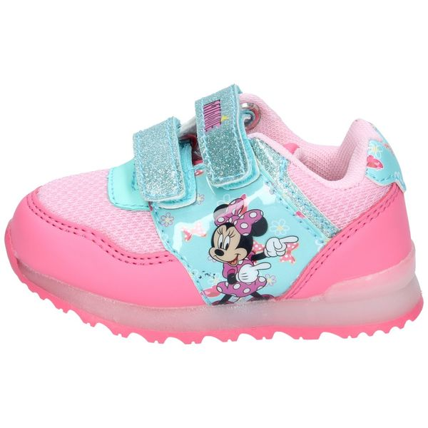 Zapatillas-Minnie-Mouse-Niñas-Rosadas-Glitter-Velcro-Luces