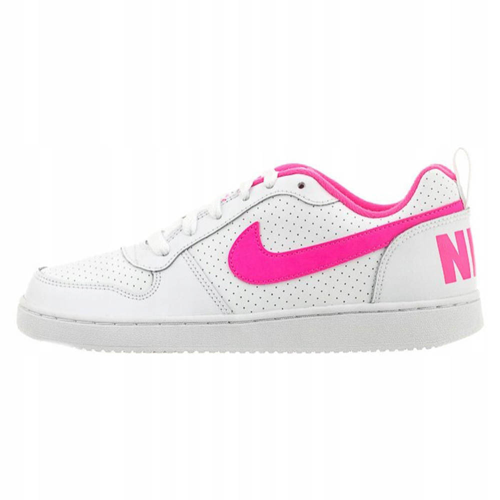 586279591 Zapatillas Niña Court Borough low Blanco Rosa - Metro