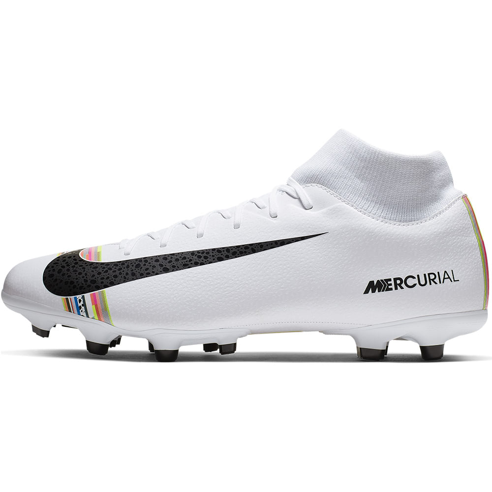 Zapatos Fútbol Hombre Nike Superfly 6 Academy LVLUP Blanco